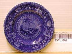 Cup Plate with the Arms of South Carolina