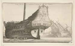 Dutch East Indiaman, from Navium varie figurae, number seven of a series of twelve etchings of Dutch ships