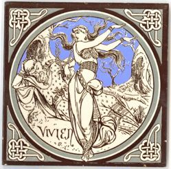 "One of a set of Minton tiles: ""Vivien"""