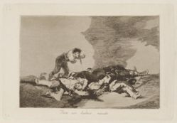 Para eso habeis nacido (This Is What You Were Born For), Plate 12 from Los desastres de la guerra (The Disasters of War)