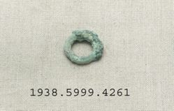 Bronze ring shaped fragment