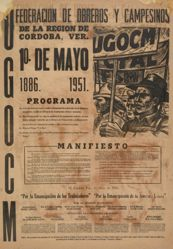 UGOCM Federación de obreros y campesinos. 1 de Mayo 1886-1951 (OGOCM Federation of Workers and Peasants. May 1st, 1886-1951)