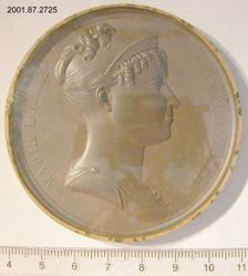 Uniface medal with bust of the Empress Marie Louise of Austria