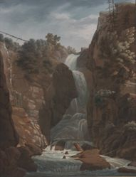 Landscape and Waterfall (nearer view)