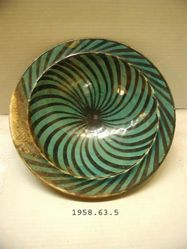 Bowl with a Spiral Pattern
