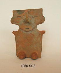 Seated slab figure