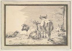 Three Cows and a Sheep