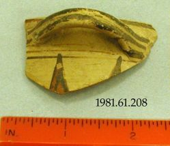 Handle fragment of a cup of potyle