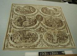 """Printed handkerchief, """"The Gentle Shepherd"""""""