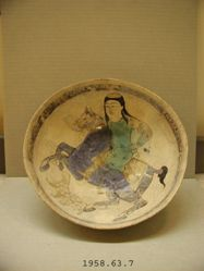 Bowl with Man on Horseback
