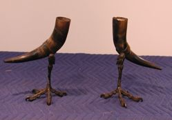 "Pair of ""Bavarian"" drinking horns"