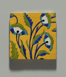 Tiles with Flowers and a Figure