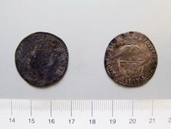 Silver Sixpence of Philip and Mary I