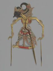 Shadow Puppets (Wayang Kulit) of Gatotkatja and Lakshmana