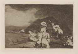 Bien te se está (It Serves You Right), Plate 6 from Los desastres de la guerra (The Disasters of War)