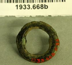 Large Fragment of Iron and a Bronze Ring