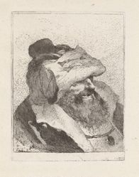 Old Man with His Hat on His Forehead, from the Raccolta di Teste (Collection of Heads)
