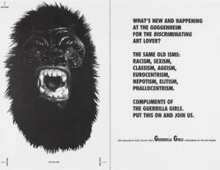 What's new and happening at the Guggenheim for the discriminating art lover?, from the Guerrilla Girls' Compleat 1985-2008