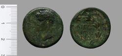 Coin of Tiberius, Emperor of Rome from Aegeae, Sicily
