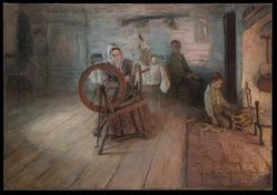 Spinning By Firelight--The Boyhood of George Washington Gray