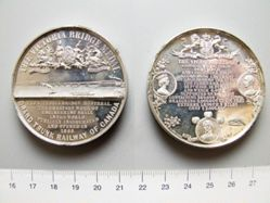 Silver medal of the Victoria Bridge
