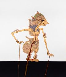 Shadow Puppet (Wayang Kulit) of Karna, from the consecrated set Kyai Nugroho