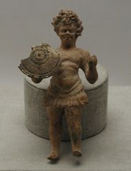 Terracotta figurine of an African warrior