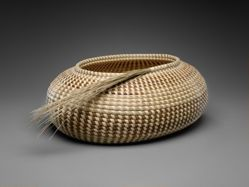 Oval Vessel with Sweetgrass Spray