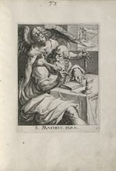 Saint Matthew, 1 of 4 numbered plates from the seriesThe Four Evangelists