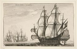 Dutch Warships, from Navium varie figurae, number eight of a series of twelve etchings of Dutch ships