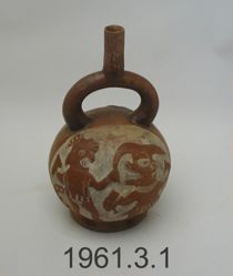 Stirrup Vessel with Mythical Battle Scene