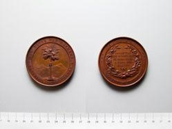 Bronze Medal from Belgium comemmorating Centenary of Dutch Batavia's Society