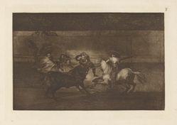 Mort de Pepe Illo (Death of Pepe Illo, 3rd Composition), Plate F from La tauromaquia (third edition)