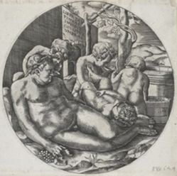 Bacchus and Putti