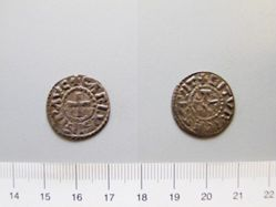 Silver denier of Charles II from Bourges