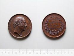 Bronze Medal from Belgium of P. T. Verhaegen, Defender of Public Liberty