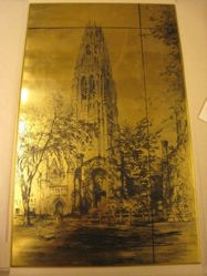 Cancelled plate for Harkness Tower at Yale