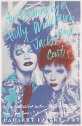 An Evening with Holly Woodlawn and Jackie Curtis, The New York Cultural Center...Cabaret in the Sky