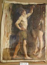Figure Study, for The Spirit of Vulcan, Genius of the Workers in Iron and Steel, Rotunda, Pennsylvania State Capitol, Harrisburg