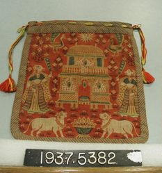 Bag with a Shrine and Attendants