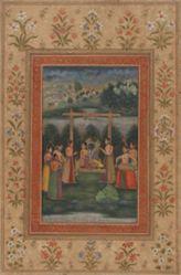 Raga Hindol, from a Garland of Musical Modes (Ragamala) manuscript
