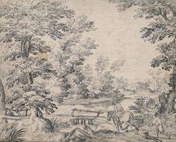 Landscape with Man on Horseback