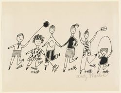 Untitled (drawing for a children's book, with 6 children)