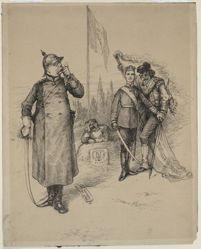 Bismark, the French Republic, and figure of Revolution