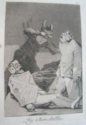 Los Chinchillas. (The Chinchillas.), Plate 50 from Los Caprichos