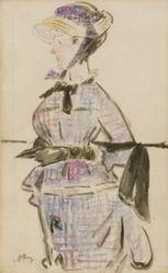 Femme en Costume de Voyage
