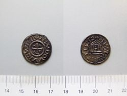 Denier of Louis the Pious from Pavia