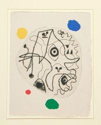 Illustration for the book of poems L'Antitête (The Anti-Head) by Tristan Tzara (Paris: Atelier Franck Bordas, 1949)