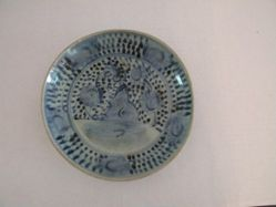 Blue and White Plate with Landscape