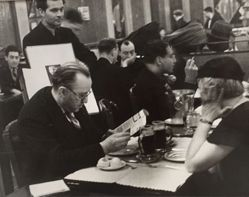 Cafes are a Landmark of Paris Life; Selling etchings, Montparnasse Cafes